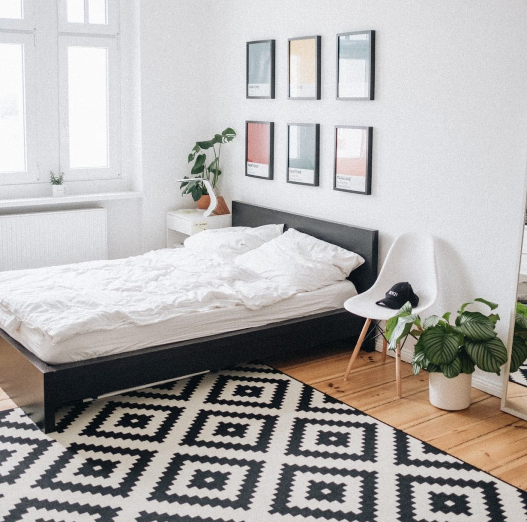 Nuetrals such as black and white have feng shui energy not ideal for your bedroom.