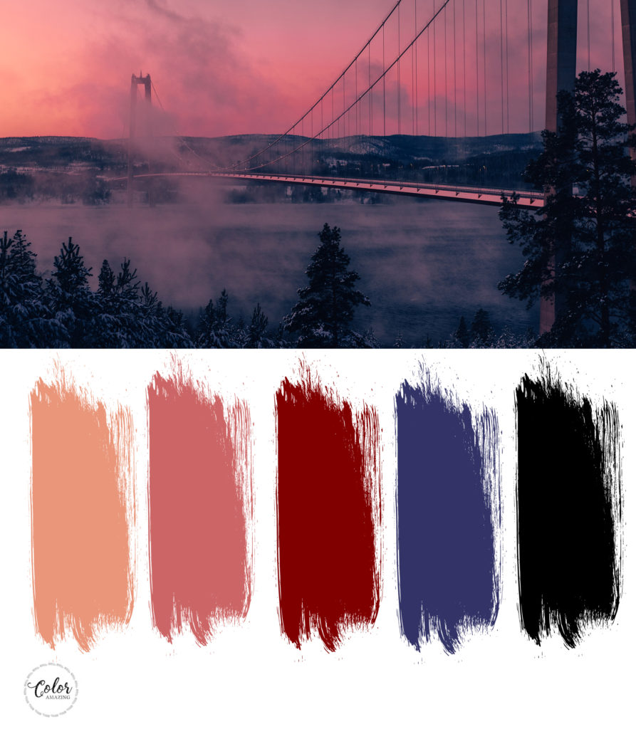 dark salmon palette