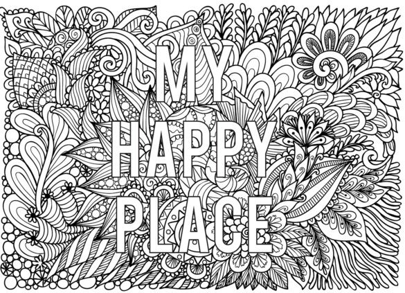 Adult coloring pages quote printableble quote