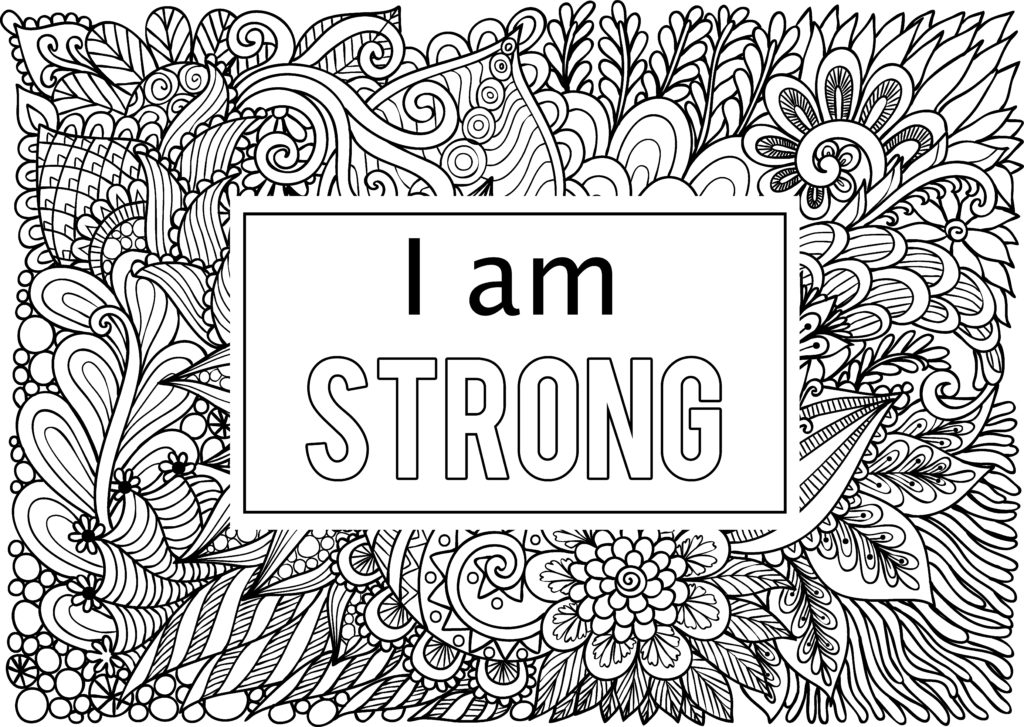 coloring page affirmations