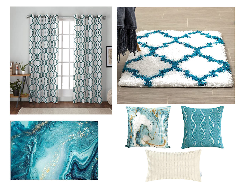 what color is teal, teal color, teal blue decor, teal and white
