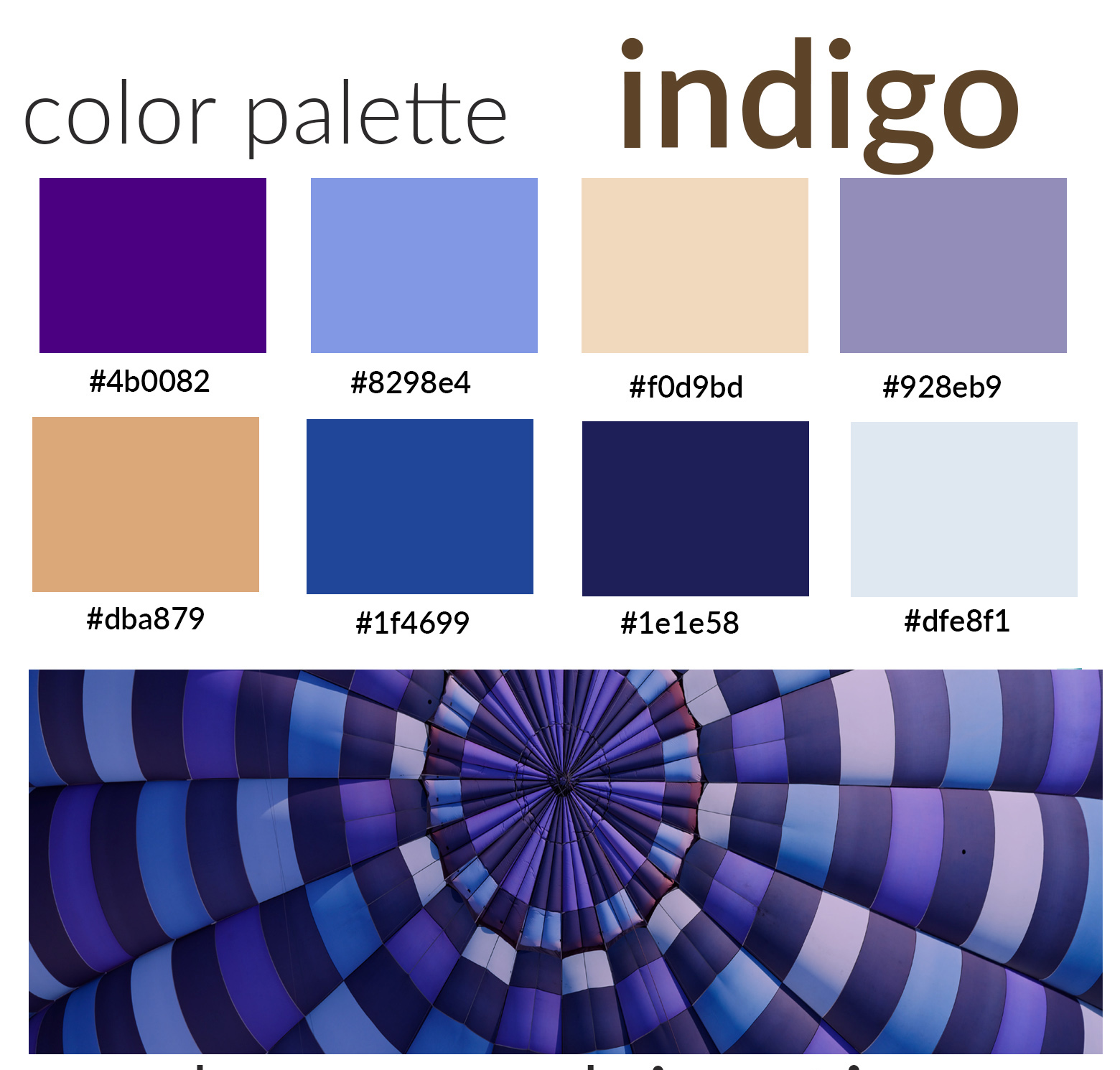 color indigo palette