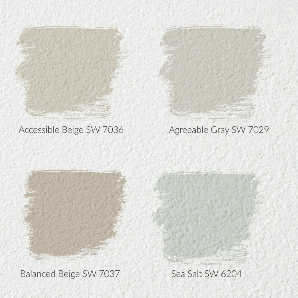 accessible beige sw 7036, Agreeable Gray SW 7029, Balanced Beige SW 7037, Sea Salt SW 6204