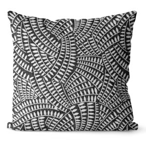 black and white pillow covers