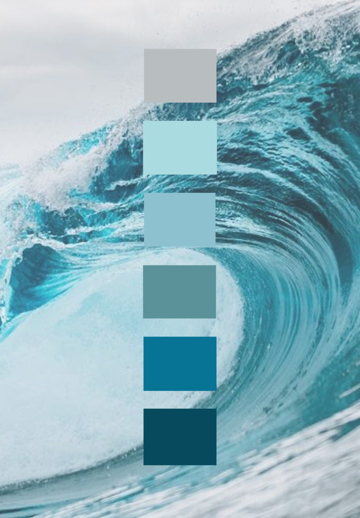 blue color palette, ocean color scheme, monochromatic color scheme