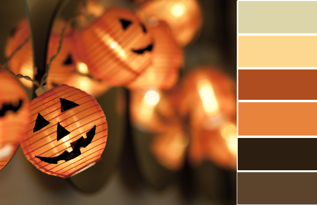 halloween color palette