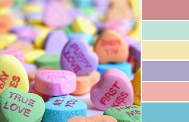 valentines color palette
