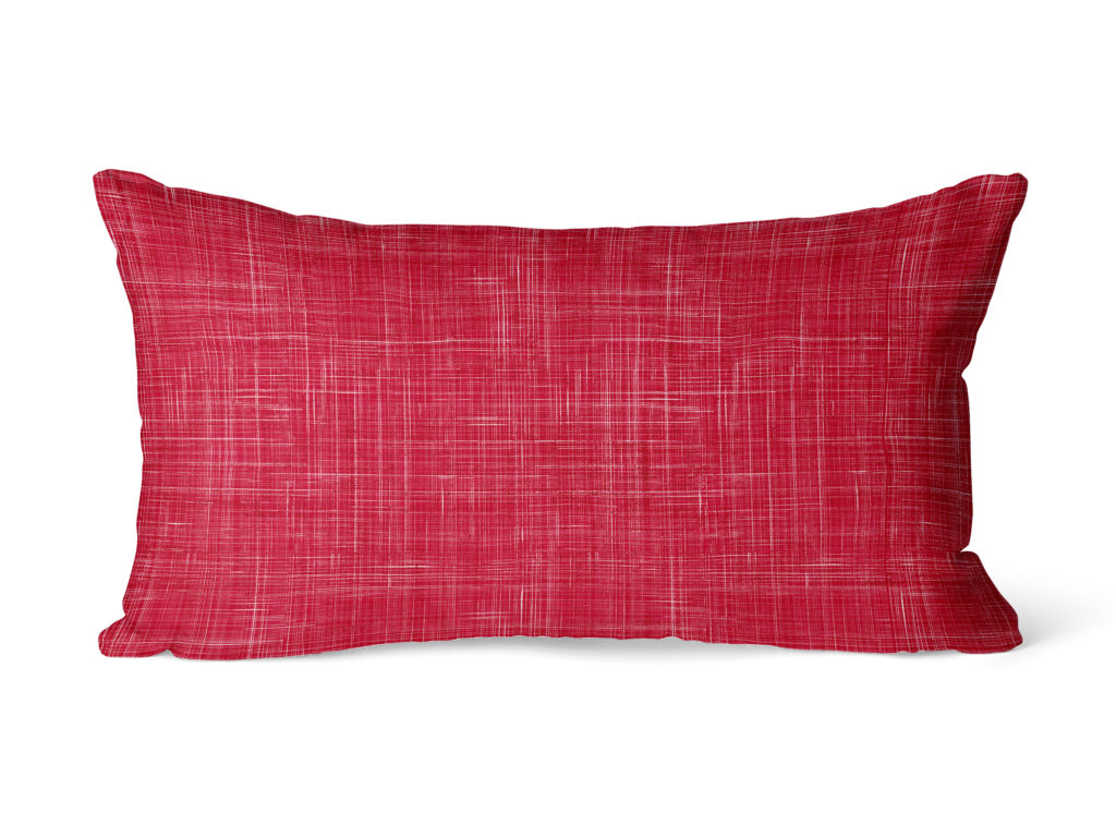red lumbar pillow cover from ColorAmazing Designs
