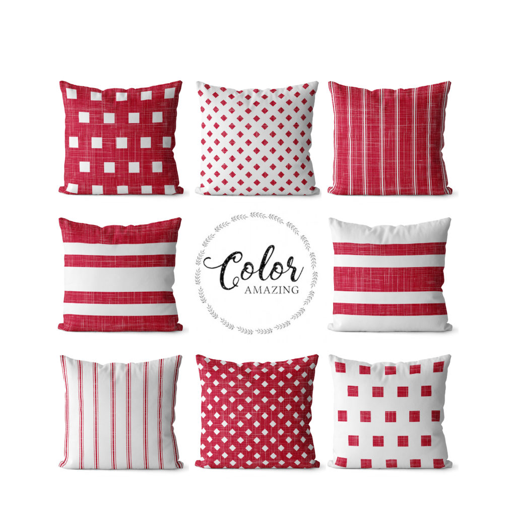 Red pillow covers color amazing