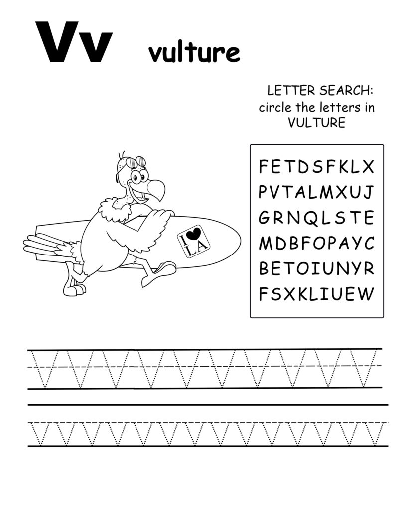 Alphabet coloring page letter W is for whale, Trace the letter W, find the letters in the word whale, letter W coloring page